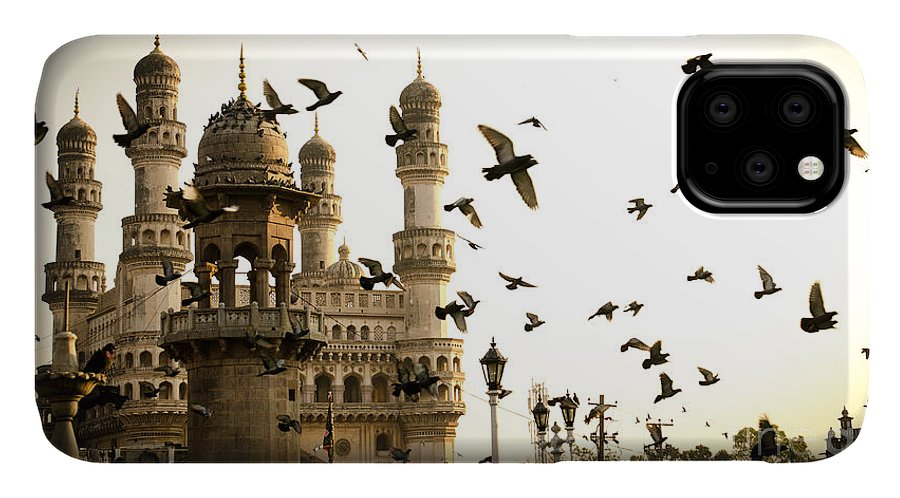 Telengana IPhone Case featuring the photograph View Of Charminar, Hyderabad. India by Saisnaps