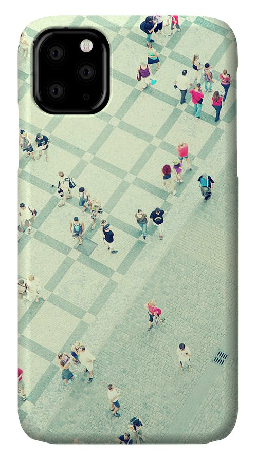 Pedestrian IPhone Case featuring the photograph Walking People by Carlo A