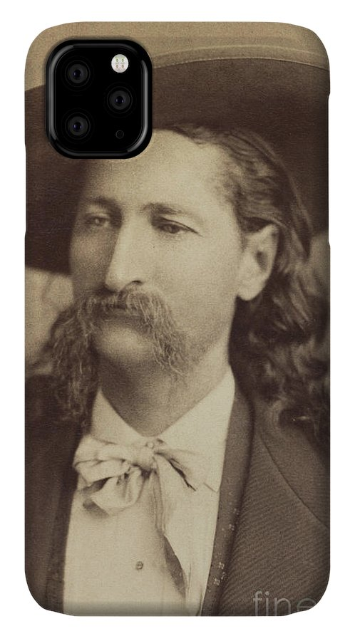 Gurney IPhone 11 Case featuring the photograph Wild Bill Hickok, Circa 1873 by Jeremiah Gurney