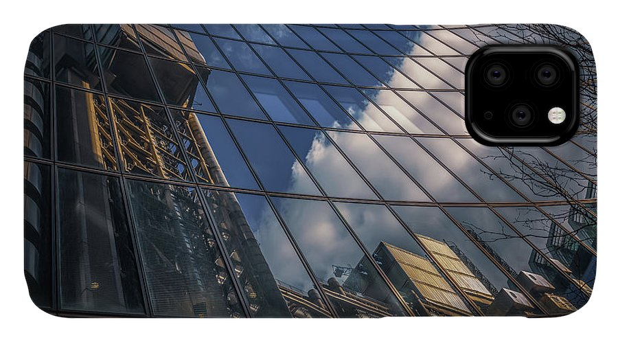 Architecture IPhone Case featuring the photograph Willis Building Reflections No 3 by Chris Fletcher