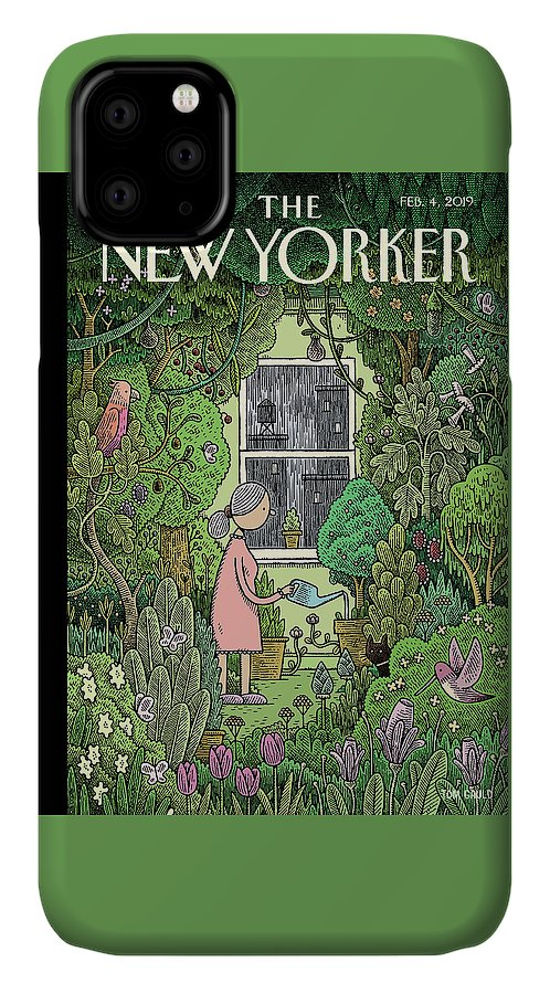 Winter Garden IPhone Case featuring the painting Winter Garden by Tom Gauld