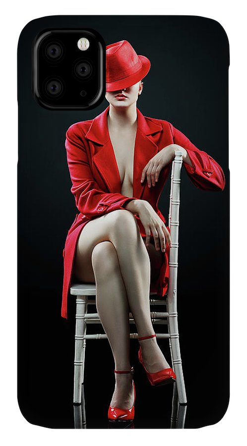 Woman IPhone Case featuring the photograph Woman in red by Johan Swanepoel