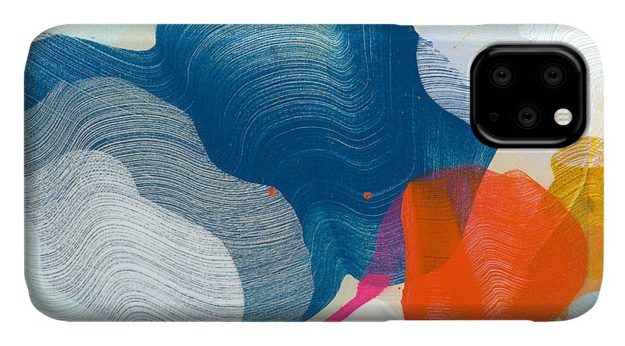 Abstract IPhone Case featuring the painting A Little Adventure by Claire Desjardins