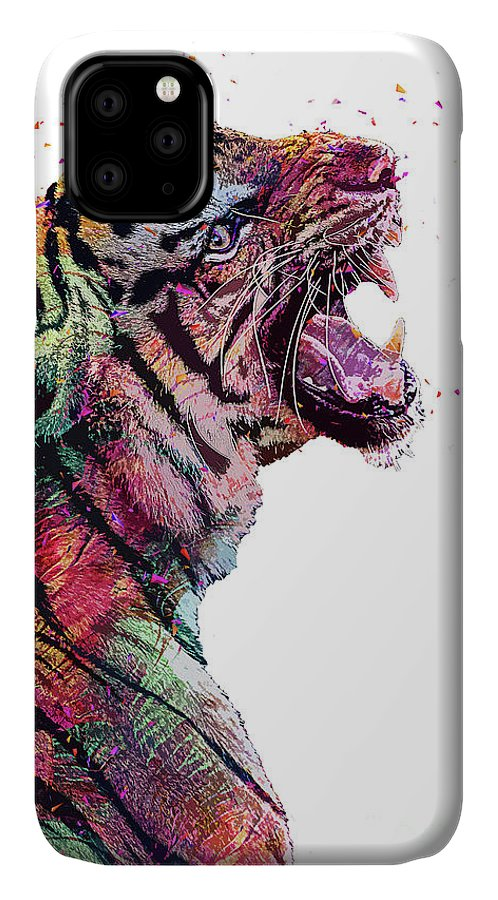 Fish IPhone Case featuring the digital art Abstract Tiger by Trindira A