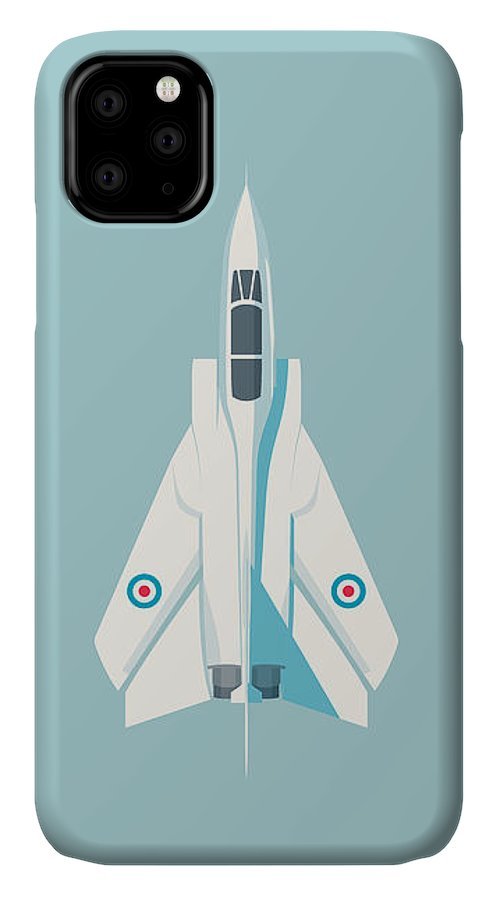 Aircraft IPhone Case featuring the digital art Tornado Swing Wing Jet - Sky by Organic Synthesis