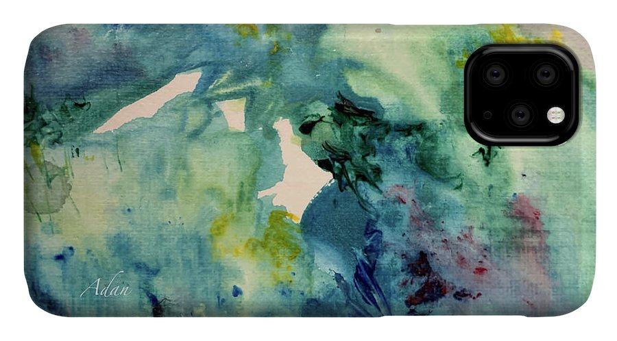 Paintings By Felipe Adan Lerma IPhone Case featuring the painting Ridges Of Spring Light 6x6 Acrylic Watercolor #2 by Felipe Adan Lerma