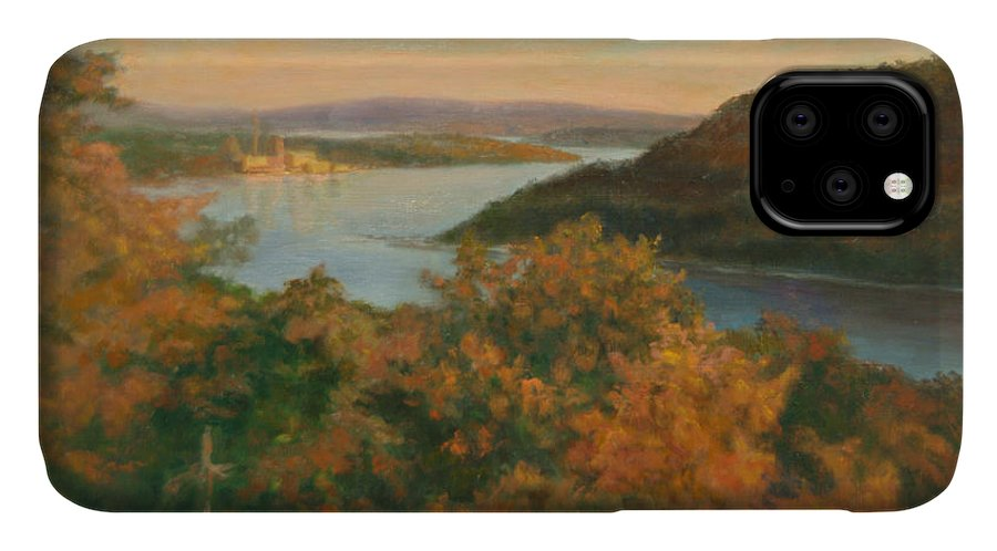 Landscape IPhone Case featuring the painting Autumn Hudson Highlands by Phyllis Tarlow