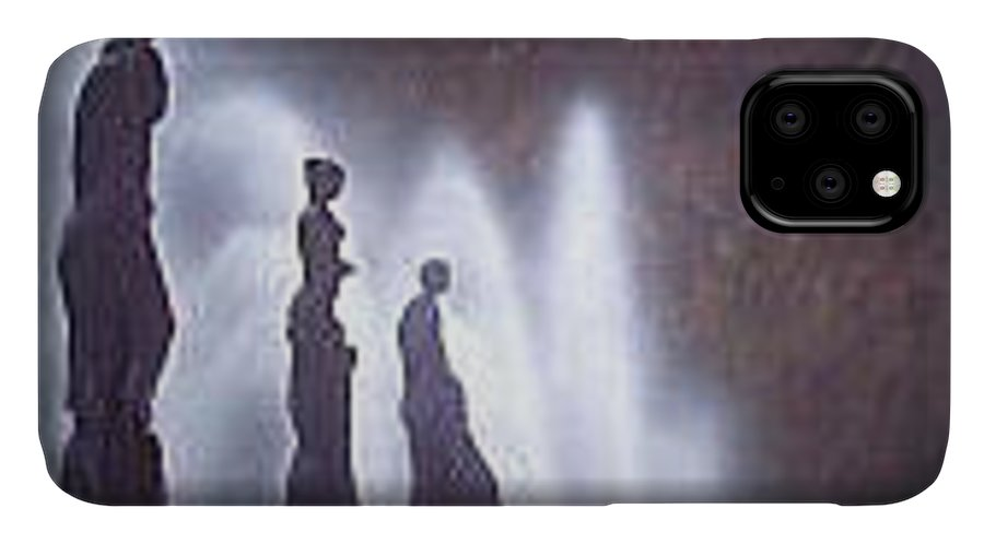 Fountains IPhone Case featuring the painting Barcelona by Philip Fleischer