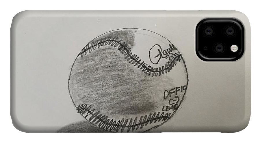 Sport Art IPhone Case featuring the painting Baseball by Epic Luis Art