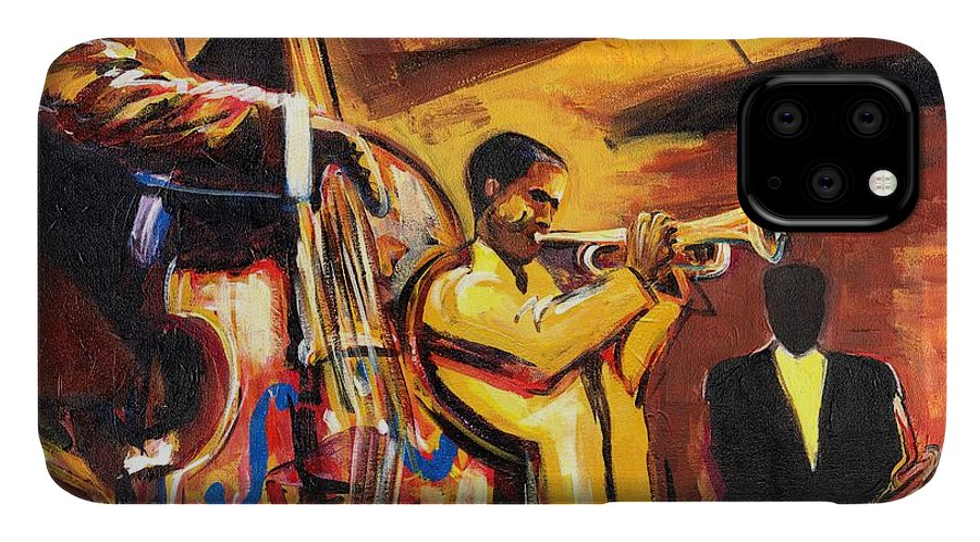 Everett Spruill IPhone Case featuring the painting Birth Of Cool by Everett Spruill