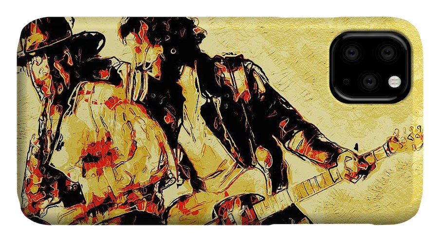 Bruce Springsteen IPhone Case featuring the digital art Bruce Springsteen and clarence clemons Classic by Unexpected Object