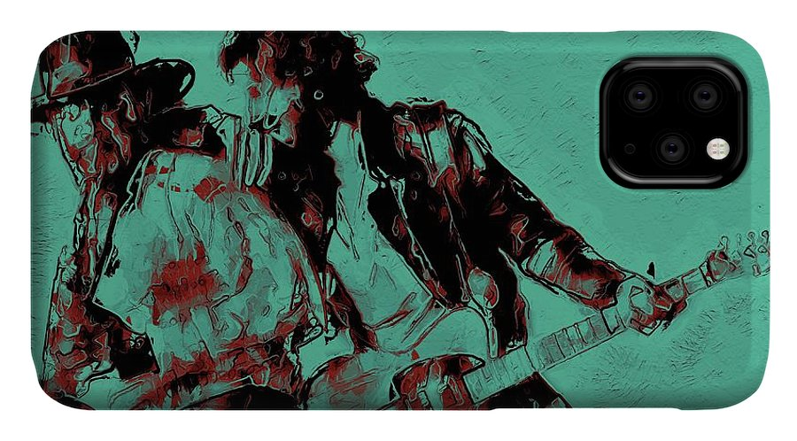 Bruce Springsteen IPhone Case featuring the digital art Bruce Springsteen and clarence clemons - vintage  by Unexpected Object