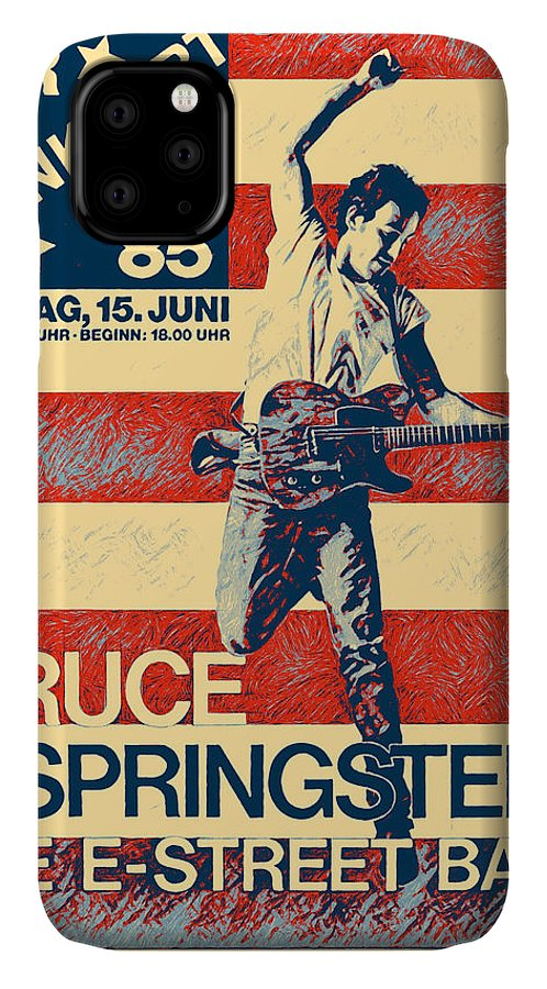 Bruce Springsteen IPhone Case featuring the digital art Bruce Springsteen - classic poster by Unexpected Object