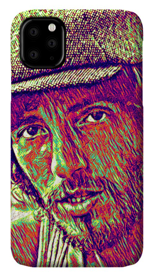 Bruce Springsteen IPhone Case featuring the digital art Bruce Springsteen - face by Unexpected Object