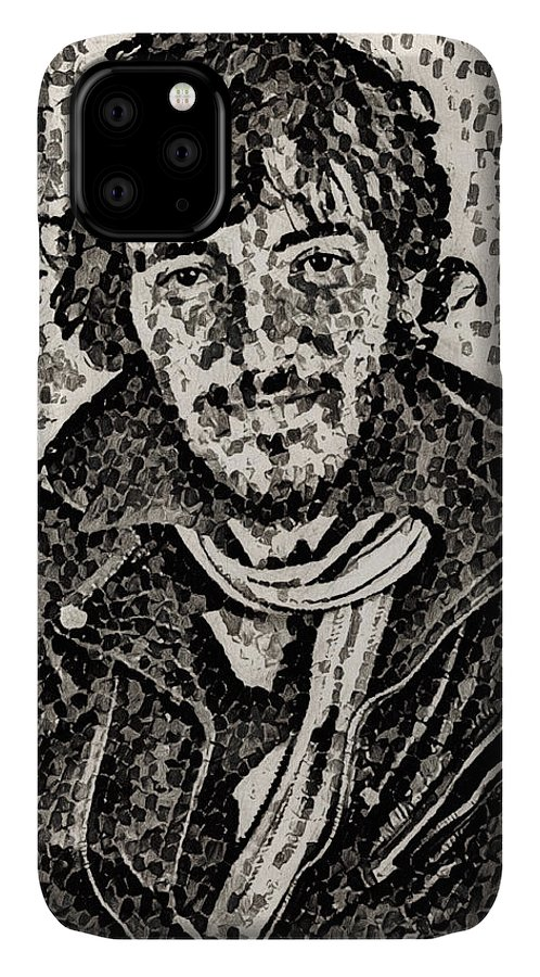 Bruce Springsteen IPhone Case featuring the digital art Bruce Springsteen - portrait one by Unexpected Object