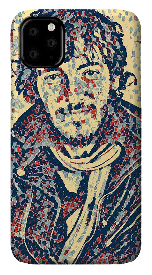 Bruce Springsteen IPhone Case featuring the digital art Bruce Springsteen - portrait three by Unexpected Object