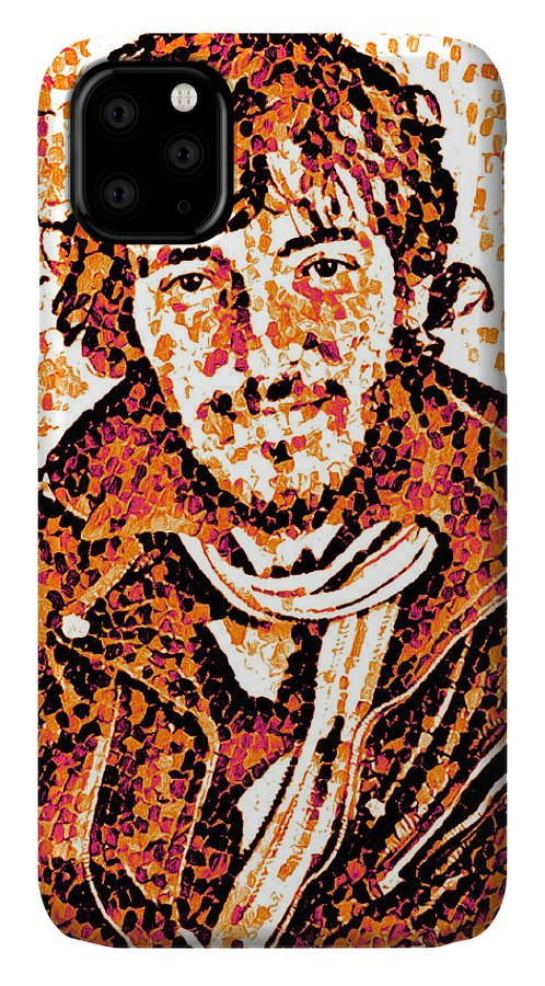 Bruce Springsteen IPhone Case featuring the digital art Bruce Springsteen - portrait two by Unexpected Object
