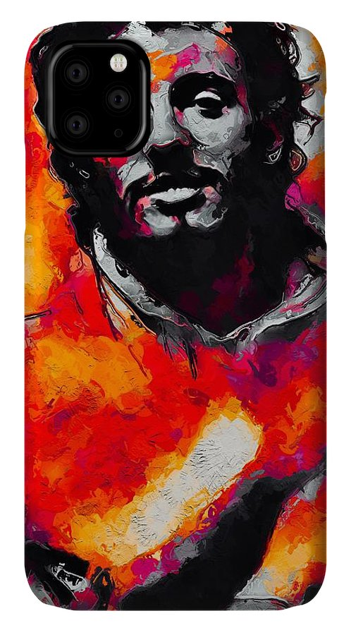 Bruce Springsteen IPhone Case featuring the digital art Bruce Springsteen - Red by Unexpected Object