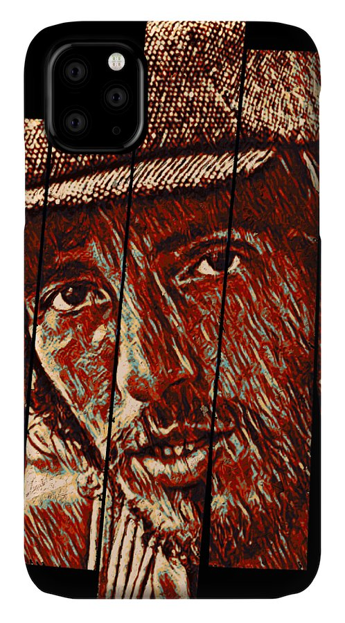 Bruce Springsteen IPhone Case featuring the digital art Bruce Springsteen - silhouette face by Unexpected Object