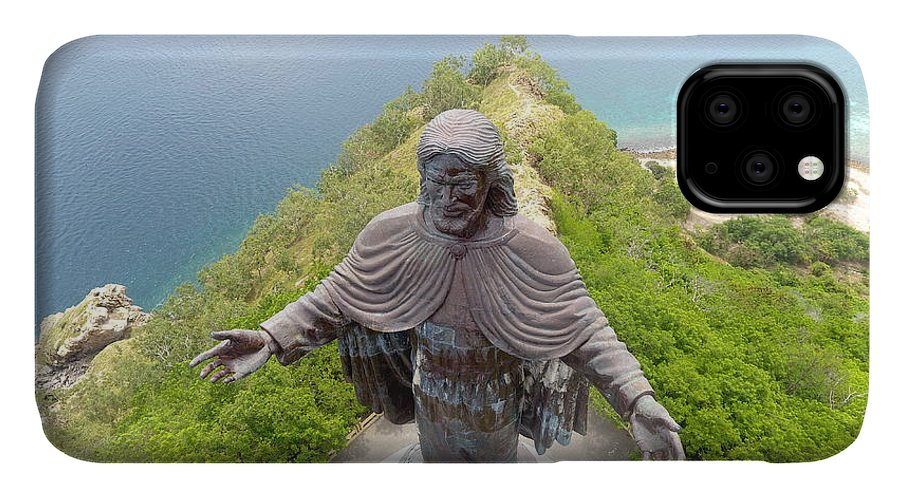 Adventure IPhone Case featuring the photograph Cristo Rei of Dili statue of Jesus by Brthrjhn2099