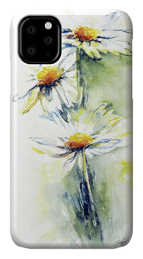 Flower IPhone Case featuring the painting Daisy Chain by Stephie Butler
