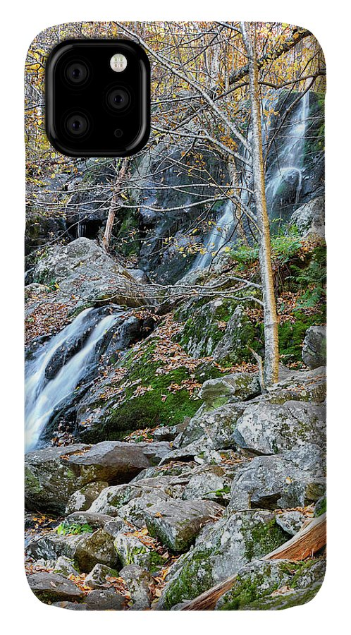 Dark Hollow Falls IPhone Case featuring the photograph Dark Hollow Falls In Shenandoah National Park by Brendan Reals