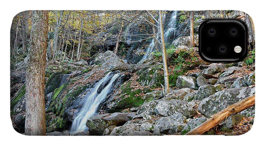 Dark Hollow Falls IPhone Case featuring the photograph Dark Hollow Falls - Shenandoah National Park Virginia by Brendan Reals