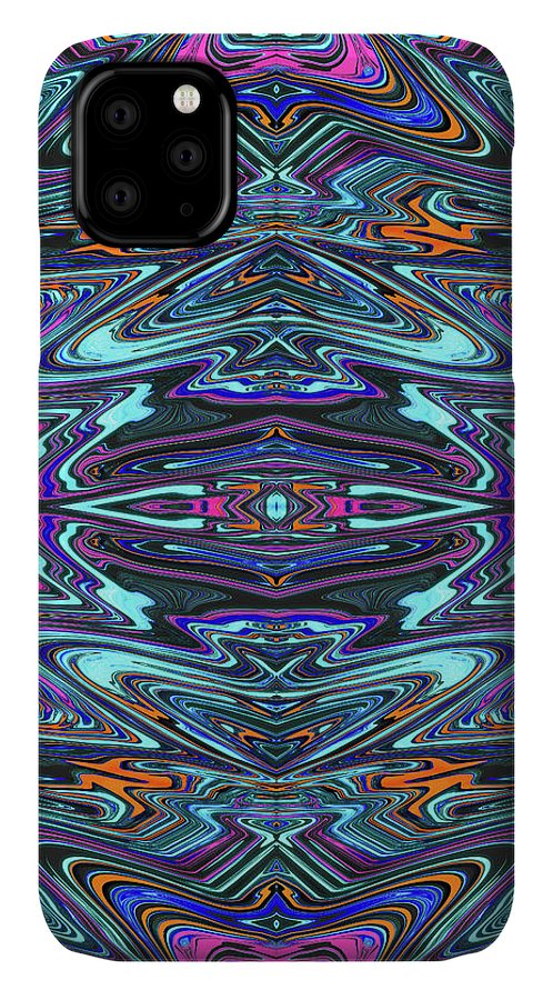 Abstract IPhone Case featuring the digital art Dragon Eye Mecha by Jack Entropy