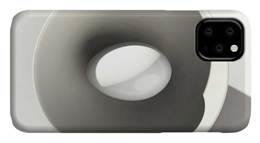 Egg IPhone Case featuring the digital art Egg and Bowl after Cesare Onestini by Heike Remy