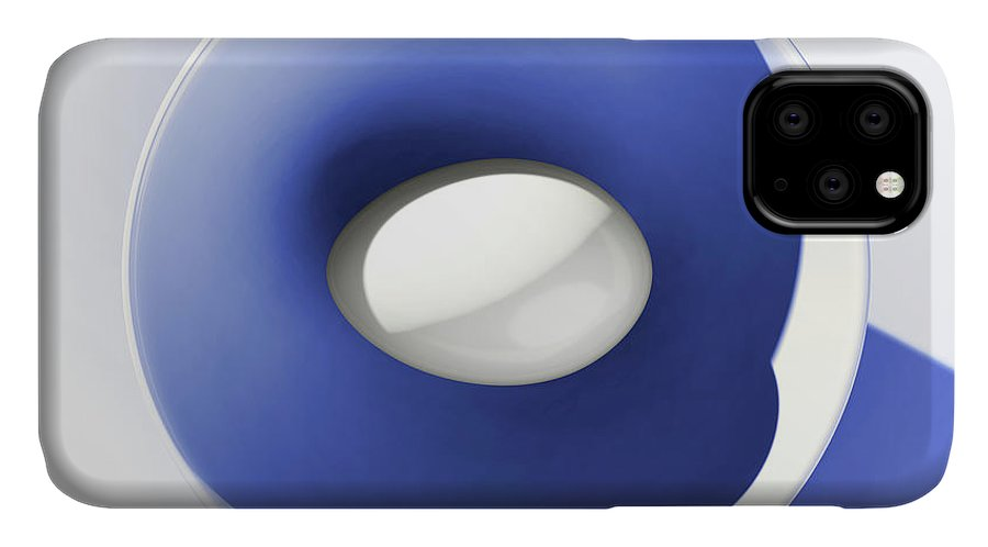 Egg IPhone Case featuring the digital art Egg and Blue Bowl after Cesare Onestini by Heike Remy