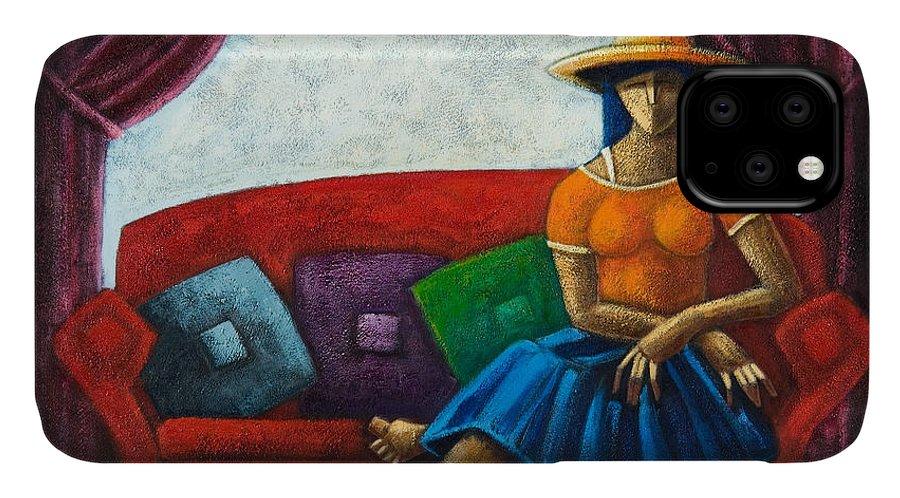 Puerto Rico IPhone Case featuring the painting El Ultimo Romance Del Verano by Oscar Ortiz