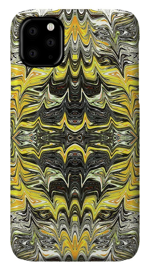 Abstract IPhone Case featuring the digital art Electromagnetic Waves by Jack Entropy