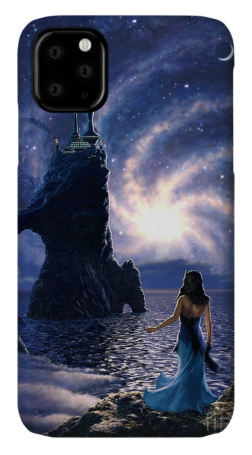 Space IPhone Case featuring the painting Far Synura by Stu Shepherd