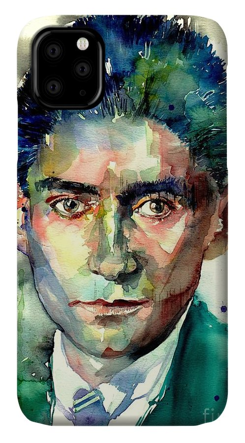 Franz Kafka IPhone Case featuring the painting Franz Kafka Portrait by Suzann Sines
