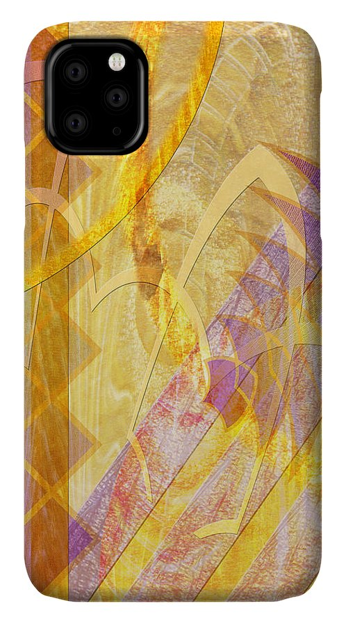Gold Fusion IPhone Case featuring the digital art Gold Fusion by John Robert Beck