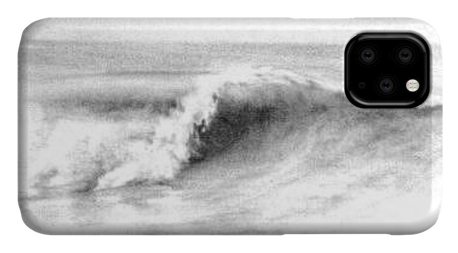 Waves IPhone Case featuring the drawing Goldenwest by Philip Fleischer