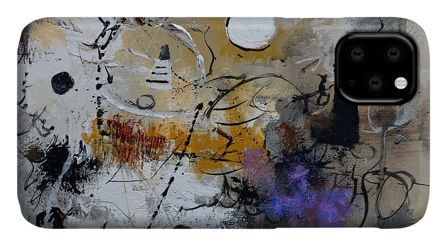 Abstract IPhone Case featuring the painting Hamilcar s strategy by Pol Ledent