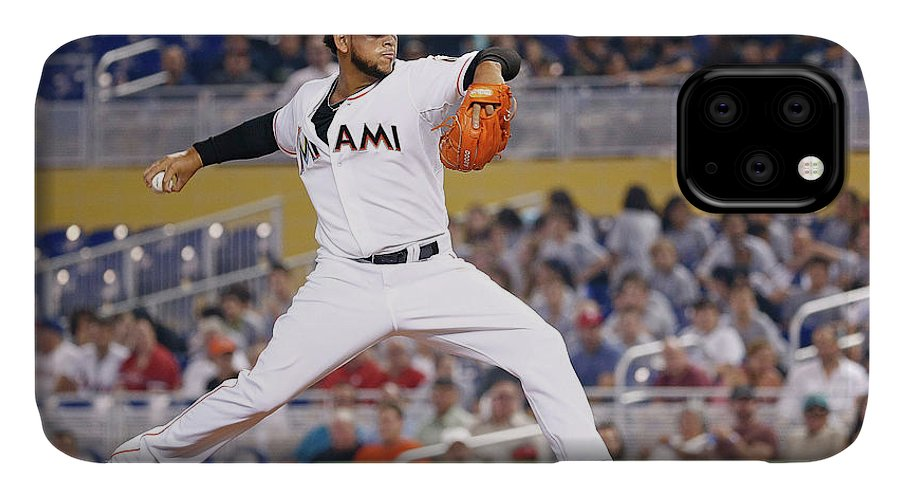 American League Baseball IPhone Case featuring the photograph Henderson Alvarez by Rob Foldy