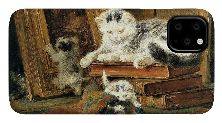 Hide And Seek IPhone Case featuring the painting Hide and seek - Digital Remastered Edition by Henriette Ronner-Knip