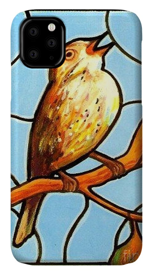 Birds IPhone Case featuring the painting His Eye Is On the Sparrow by Jim Harris