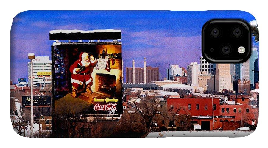 City IPhone Case featuring the photograph Kansas City Skyline at Christmas by Steve Karol