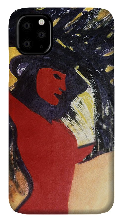 Figure IPhone Case featuring the painting Liberation by Ingrid Torjesen
