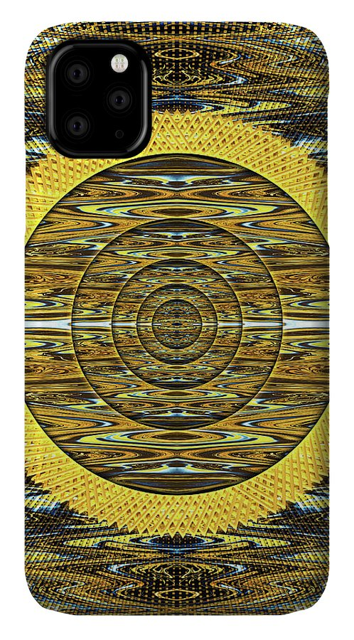 Abstract IPhone Case featuring the digital art Magician's Portal to the Sun by Jack Entropy