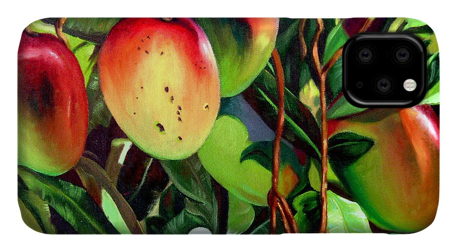 Tree IPhone Case featuring the painting Mangos by Jose Manuel Abraham