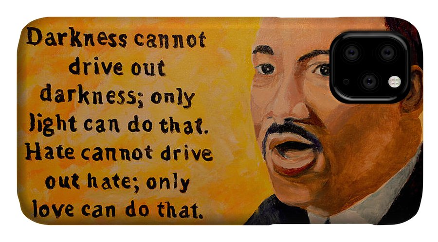 Oil IPhone Case featuring the painting Martin Luther King Jr. by Roger Snell