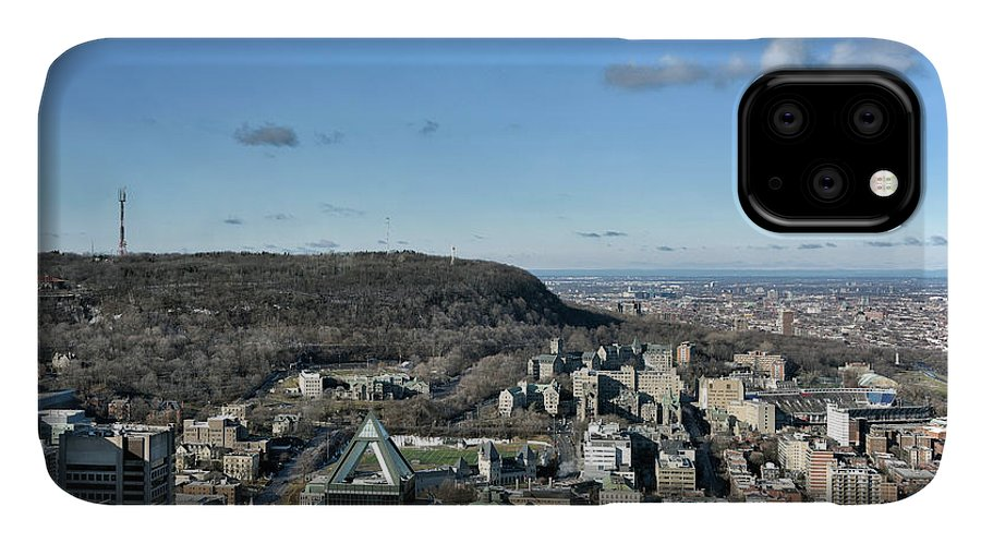 Mcgill University IPhone Case featuring the photograph Mcgill University And Mt Royal - Montreal by Brendan Reals