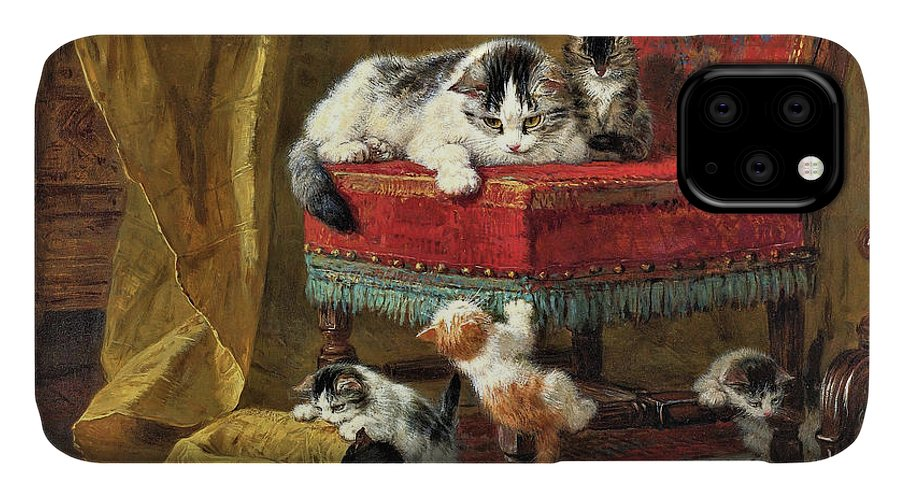 Mother's Pride IPhone Case featuring the painting Mother's Pride - Digital Remastered Edition by Henriette Ronner-Knip