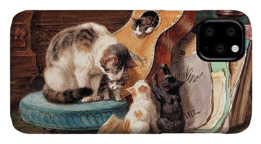 Musician IPhone Case featuring the painting Musician - Digital Remastered Edition by Henriette Ronner-Knip