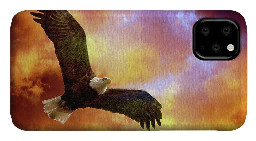 Eagle IPhone Case featuring the photograph Perseverance by Lois Bryan