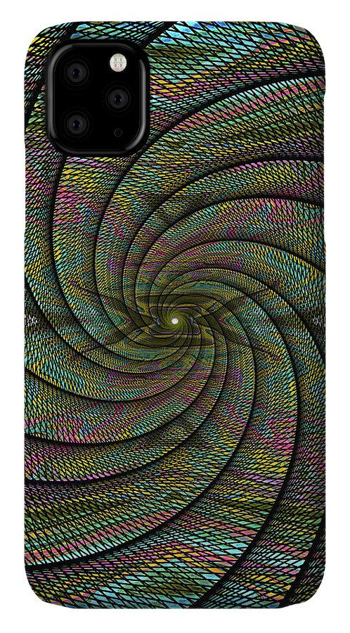 Abstract IPhone Case featuring the digital art Phoenix Belt by Jack Entropy